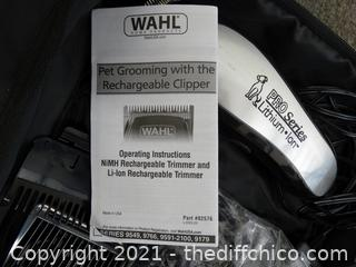 Wahl Pet Clippers With Attachments