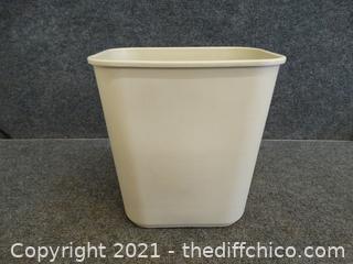 Light Colored Waste Basket