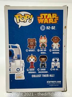 Funko Pop! Star Wars R2-D2 #31 Vinyl Bobble-Head Blue Box First Run