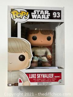 Funko Pop Star Wars Luke Skywalker Exclusive RARE Vinyl Bobble #93