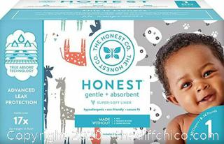 NEW SEALED ($25.99) DIAPERS The Honest Company Club Box - Size 1 - 80 count