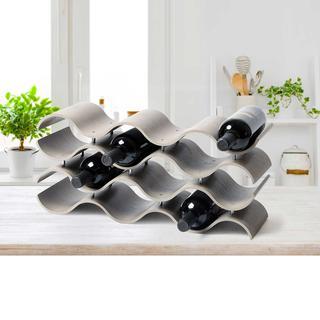 ($69.99) Seville Classics 12-bottle Ashwood Wine Rack