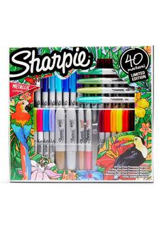 ($42.99) NEW Sharpie 40ct Permanent Markers Gift Kit Ultra Fine/Fine Variety Pack