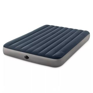 """Intex 10"""" Queen Size Air Mattress with 2-Step AA Battery Inflation Pump System"""