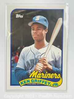 1989 Topps Traded #41T KEN GRIFFEY JR. Rookie Card Seattle Mariners HOF RC