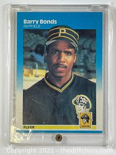 1987 FLEER BASEBALL CARD RC #604 BARRY BONDS