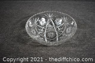 Crystal Serving Bowl