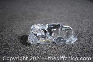 Princess House Crystal Dog from USA