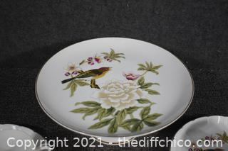 17 Pieces of Chinese Garden by Shafford China-Cake Plate, snack sets, cups