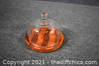 Cheese Server w/dome