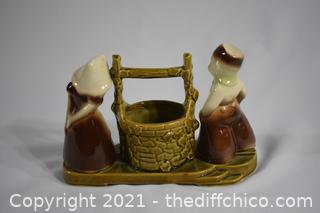 Vintage 1940's Shawnee Wishing Well Pottery