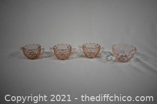 4 Pieces of Pink Fostoria American Pattern