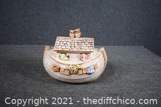 Treasure Craft Noah's Ark Cookie Jar