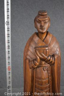 26in Tall Wood Statue