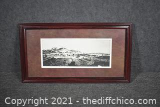 1918 Framed Reproduction Photograph plus map