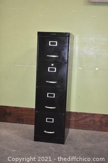 black 4 Drawer File Cabinet