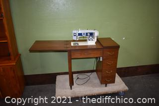 Working Keystone Sewing Machine w/cabinet