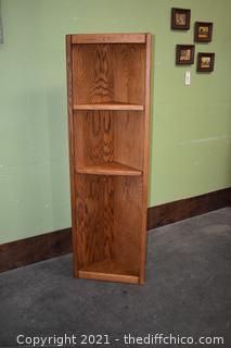 Corner Shelf w/2 Adjustable Shelves