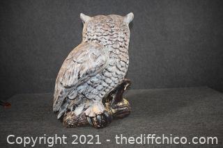 Ceramic Owl Statue