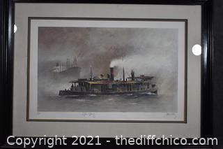 Framed Signed Numbered Lithograph 22/375