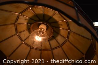 Working Stainglass Hanging Lamp