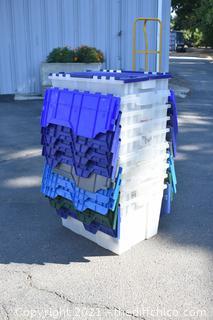 10 Folding Lid Totes