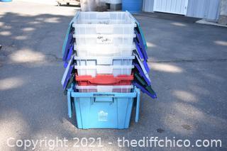 8 Folding Lid Totes
