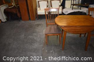 Drop Leaf Table plus 2 Chairs