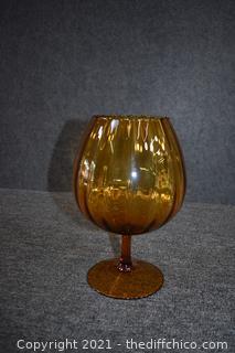 Amber Pedestal Dish