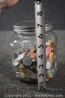 Jar of Vintage Buttons