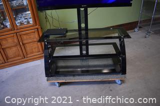 Working 55in Sony TV plus 3 Shelf Glass TV Stand