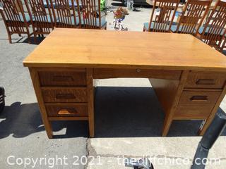 "Wood Desk  34"" x 60"" x31"""