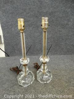 2 Working Desk Lamps