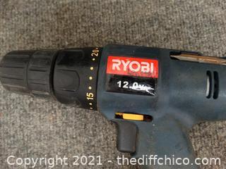 "Ryobi 3/8"" Drill Driver wks"