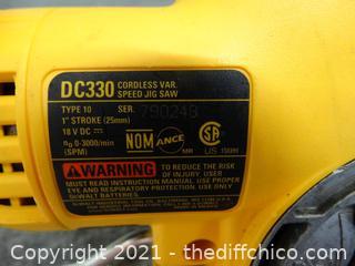 Working DeWalt Cordless VAD  Speed Jig Saw wks 18 volt