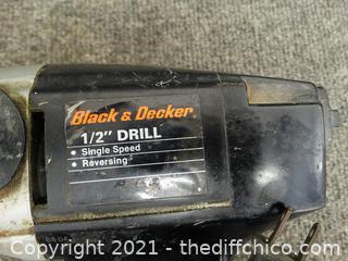 """Black & Decker 1/2"""" Drill wks"""