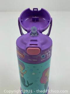 Thermos Mermaid 12oz FUNtainer Water Bottle with Bail Handle - Lavender/Blue