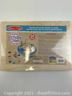 NEW ($21.99) Melissa & Doug Wooden Birthday Cake