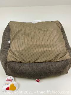 Rectangular Dog Bed - Brown -  S - Boots & Barkley™