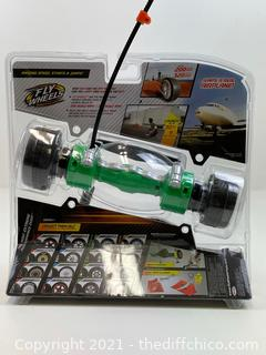 NEW Fly Wheels Twin Turbo Launcher 200 Scale MPH Stunts & Jumps 30'