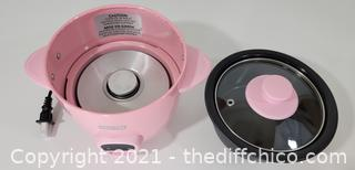 Dash Mini Rice Cooker Steamer with Removable Nonstick Pot, Keep Warm Function & Recipe Guide, 2 cups, for Soups, Stews, Grains & Oatmeal, Pink