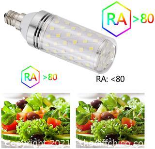 RAYHOO Candelabra LED Bulbs Incandescent 80-100W Bulb Equivalent, Standard Medium E12 Base,1000Lumens Non-Dimmable,4 Pack(White 6000K)
