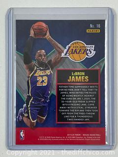 2019-20 Panini Mosaic Basketball Lebron James Jam Masters #16