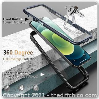 Temdan Bumper Case Compatible with iPhone 12 Case,Compatible with iPhone 12 Pro Case,Full Body Protector Rugged Shockproof Cover