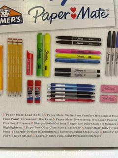 NEW Sharpie Expo Paper Mate School & Office Supply 38 Piece Kit