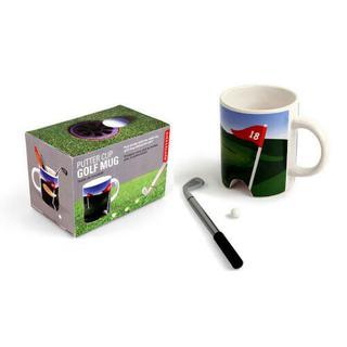 NEW Kikkerland Putter Cup Golf Mug with Putter/Pen & Ball
