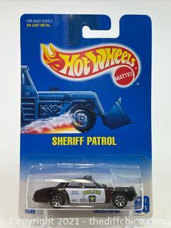 HOT WHEELS Blue Card Sheriff Patrol Car 1991 No. 59 1549