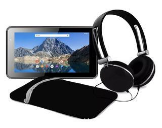 Ematic 7in Tab with Headphones + Sleeve & Headphones Black