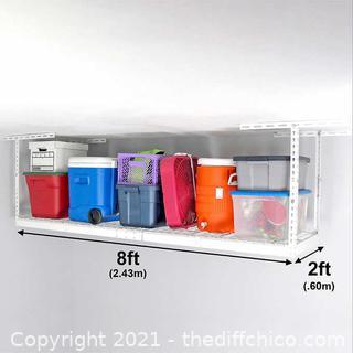 NEW SafeRacks 2 ft x 8 ft Overhead Garage Storage Rack & Accesories Kit