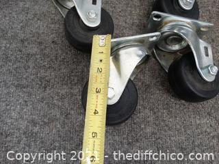 """4 Casters 3 x 1  1/4"""""""
